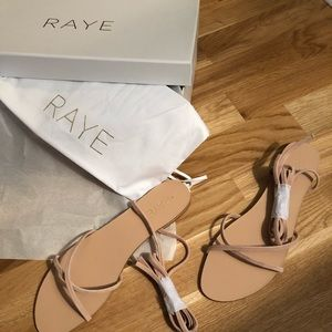 New in box - RAYE lace up sandal in nude